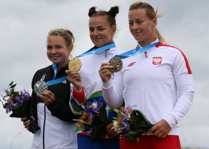 Medalists women C1 European Games Minsk 2019