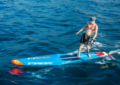 USA Connor Baxter stand up paddling