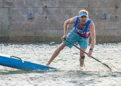 USA Connor Baxter stand up paddling sprint gold Qingdao 2019 SUP