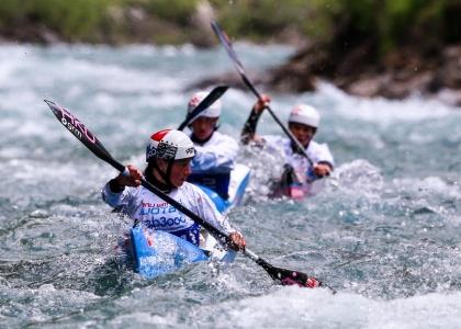 Czech team wildwater canoe championships Muotothal