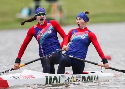 2021 Canoe Sprint European Olympic Qualifier Daniela COCIU, Maria OLARASU Moldova