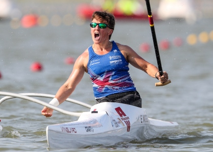 Great Britain Emma Wiggs paracanoe VL2 Szeged 2019