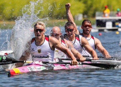Germany men K4 2018 Montemor World Championships