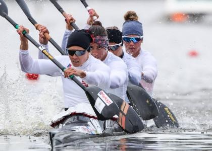 Hungary K4 women world championships Copenhagen 2021
