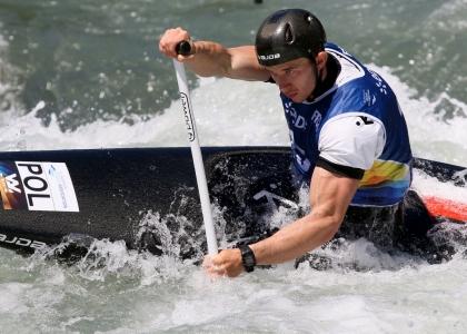 Poland Kacper Sztuba European slalom championships Pau 2019