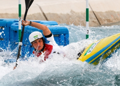 Kazakhstan Yekaterina Smirnova canoe slalom