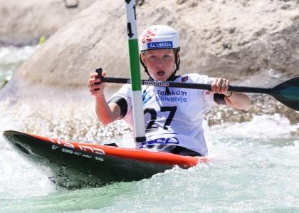 Czech Republic Klara Kneblova junior canoe Tacen 2021