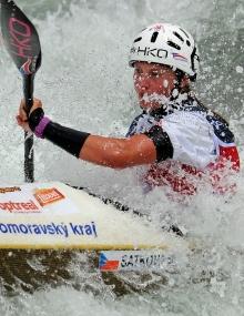 Martina Satkova (CZE) won in women's kayak and canoe events