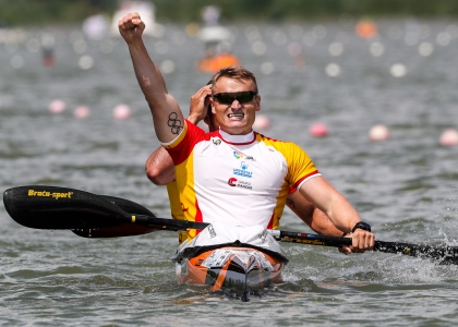 2018 ICF Canoe Sprint World Cup 1 Szeged Hungary R Germade - M Walz ESP