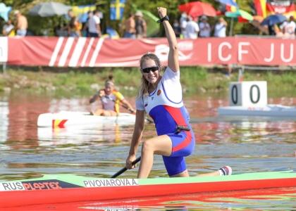 Russia Anna Pivovarova canoe sprint juniors Montemor 2021