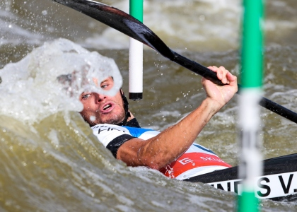 Canoe slalom world cup final Prague 2019