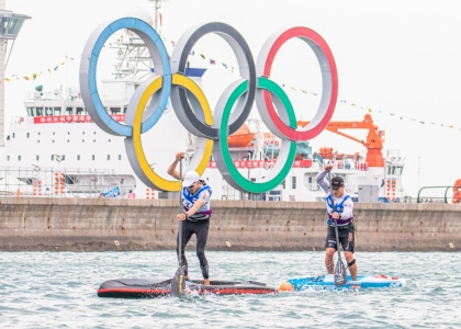 SUP Olympic rings Qingdao China