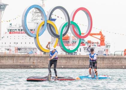 SUP Olympic rings Qingdao China