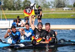 German tribute Fiete Junge canoe polo Welland 2018