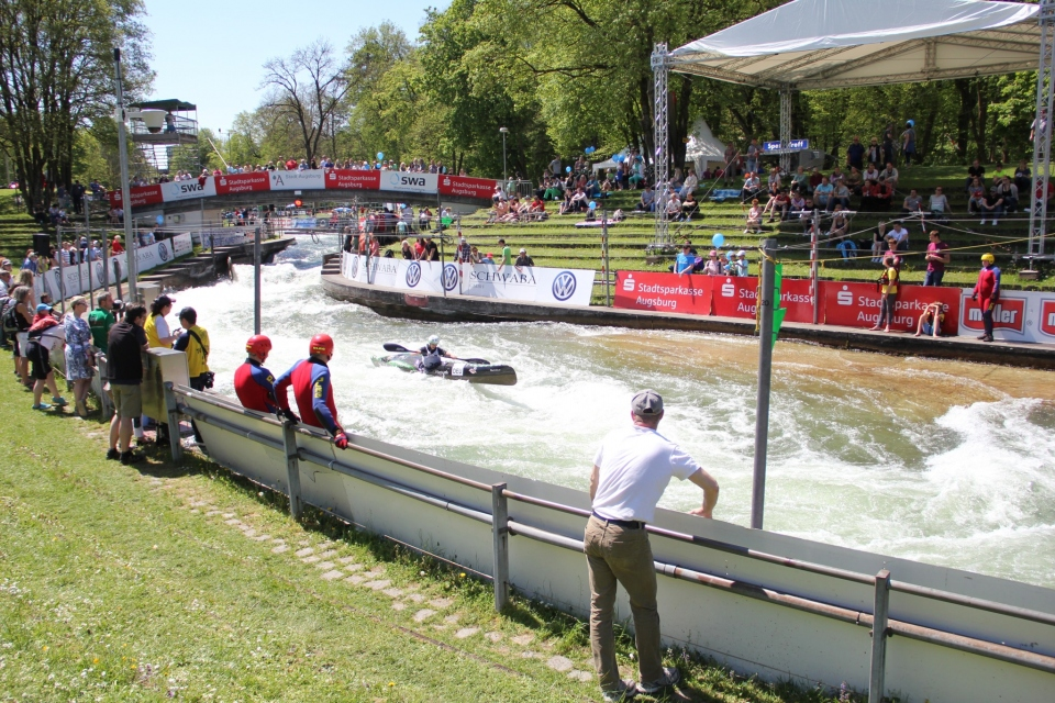 Wildwater Canoeing Event weekend in Augsburg