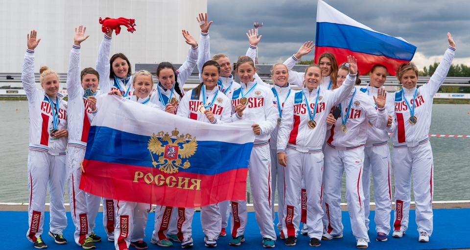 Russia celebrates the fantastic overall results ICF Planet Canoe