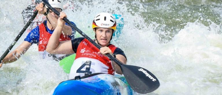 Germany Caroline Trompeter extreme slalom Markkleeberg 2019