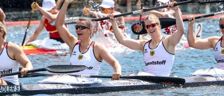 German women K4 500 Duisburg 2019