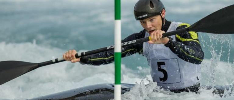 GB slalom paddler Chris Bowers