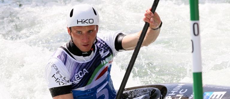 Czech Vit Prindis K1 European canoe slalom champion Ivrea