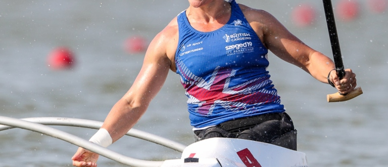 Great Britain Emma Wiggs paracanoe VL2 Szeged 2019