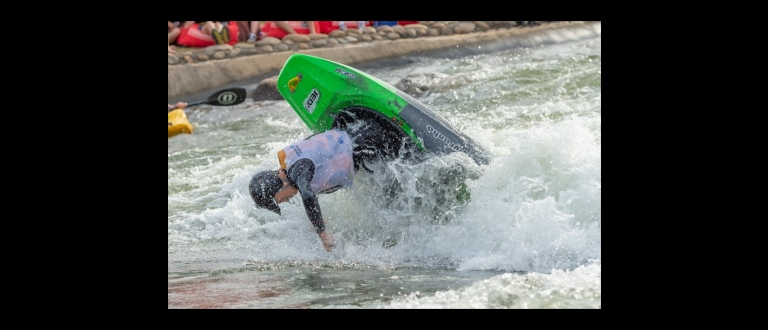Freestyle action Sydney Whitewater Festival 2019