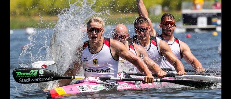 Germany men K4 2018 Montemor World Championships