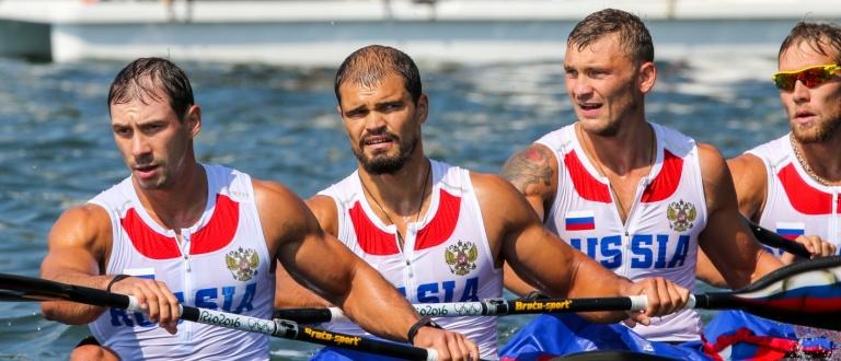 Russia men's K4 Rio Olympics