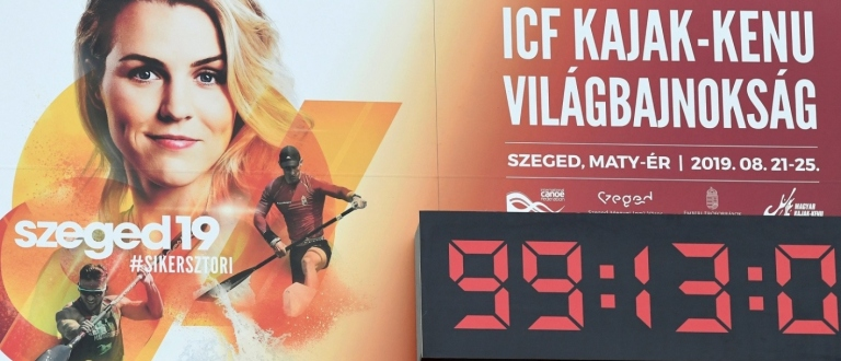 Szeged countdown clock 2019 world championships
