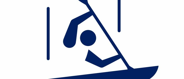 Tokyo 2020 canoe slalom pictogram
