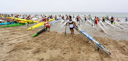 Ocean Racing Beach Shot