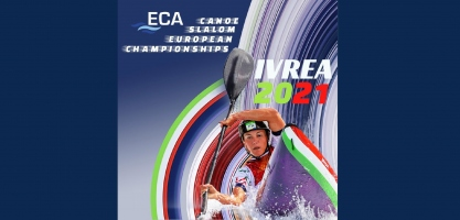 2021 ECA Canoe Slalom European Championships Ivrea logo