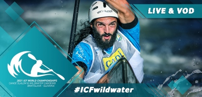 2021 ICF Wildwater Canoeing Kayak World Championships Bratislava Slovakia Live TV Coverage Video Streaming