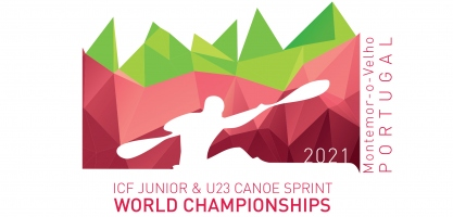 Logo: 2021 ICF Junior and U23 Canoe Sprint World Championships Montemor-o-Velho