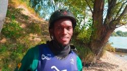Kenyan canoe slalom paddler Samuel Muturi