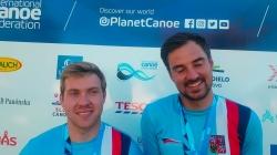 Czech C2 wildwater world champions Ondrej Rolenc and Daniel Suchanek