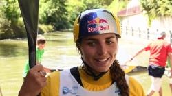 Jessica Fox K1 second #ICFslalom 2017 Canoe World Cup Final La Seu