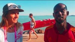 Olivia Piana and Dion Laurent SUP development camp