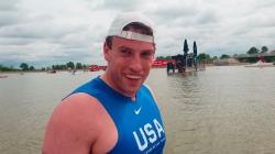 USA paracanoe athlete Steven Haxton