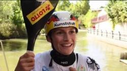 Ricarda Funk K1 winner #ICFslalom 2017 Canoe World Cup Final La Seu