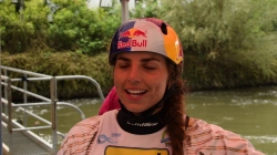 Jessica Fox after semi-final #ICFslalom 2017 Canoe World Cup Final La Seu