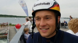 #ICFslalom 2017 Canoe World Cup 2 Augsburg - Interview with Germany's Franz Anton