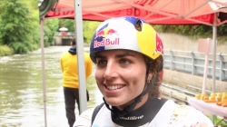 Jessica Fox C1 second and overall winner #ICFslalom 2017 Canoe World Cup Final La Seu