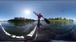 360º on Laurence Vincent-Lapointe's canoe  / 2019 ICF Canoe Sprint World Cup 2 Duisburg Germany