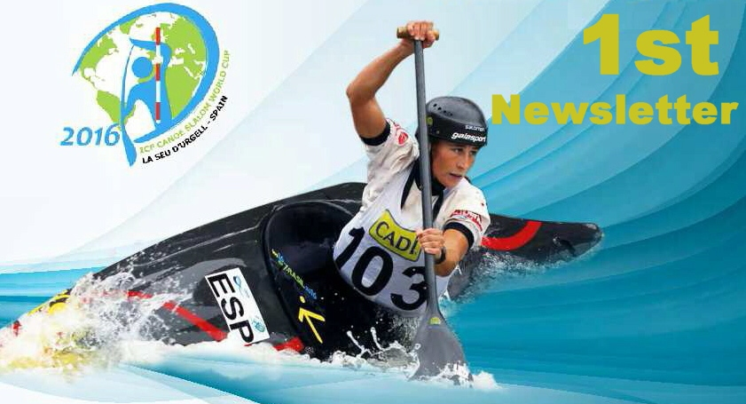 1st NEWSLETTER 2016 ICF CANOE SLALOM WORLD CUP 2