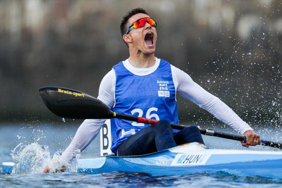 Hungary Adam Kiss kayak gold Youth Olympic Games 2018