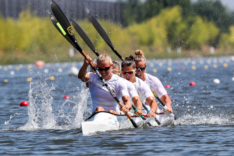 Hungary women K4 Montemor 2018 gold