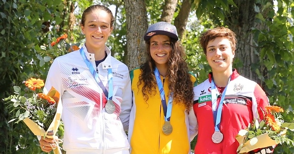 podium C1W 2018 ICF CS WORLD CUP FINAL LA SEU