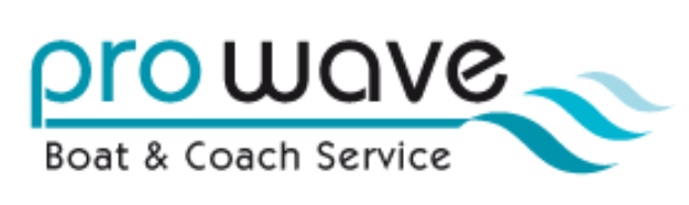Prowave boat and coach service logo