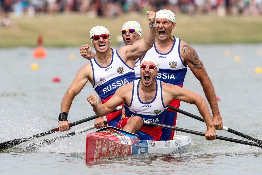 Russia K4 men Szeged 2019